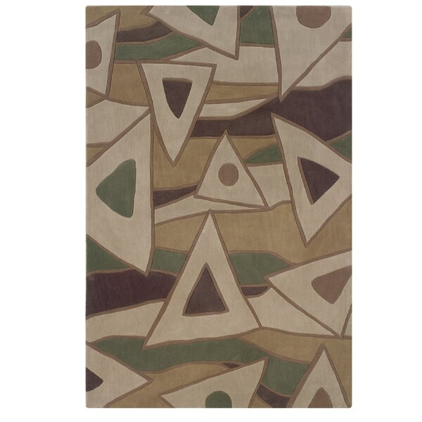 Carrollton Hand-Tufted Beige Area Rug by George Oliver