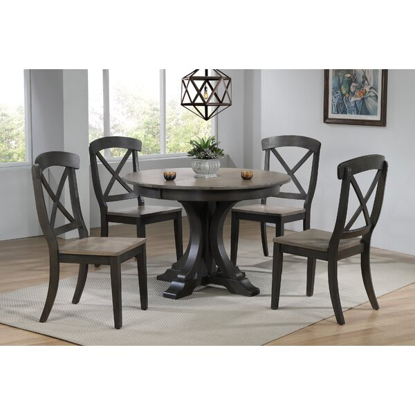 Melanie 5 Piece Extendable Solid Wood Dining Set by Alcott Hill