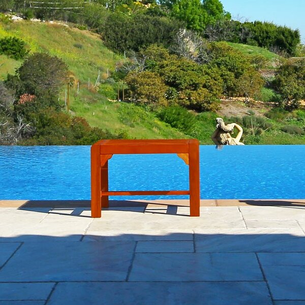 Amabel Backless Wooden Picnic Bench by Beachcrest Home