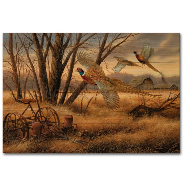 Prairie Wings Painting Print Plaque by WGI-GALLERY