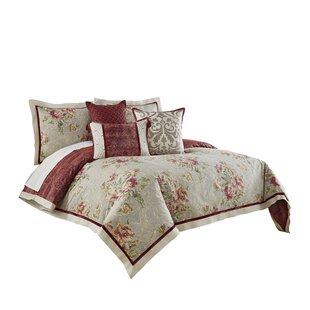 Fresco Flourish 4 Piece Reversible Comforter Set. By Waverly
