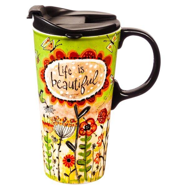 Mikonos Life is Beautiful Travel Mug by August Grove