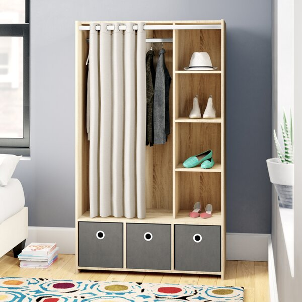 Fontaine 3 Bin Curtain Storage Center Wardrobe Armoire by Trule Teen