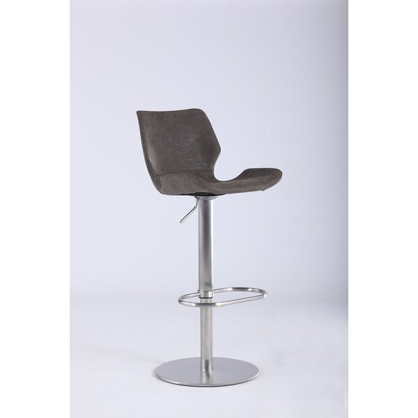Bernick Adjustable Height Swivel Bar Stool by Orren Ellis