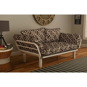 Everett Convertible Lounger in Sabine Futon and Mattress by Ebern Designs