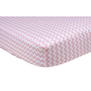 Bargain Sky Chevron Fitted Crib Sheet ByTrend Lab