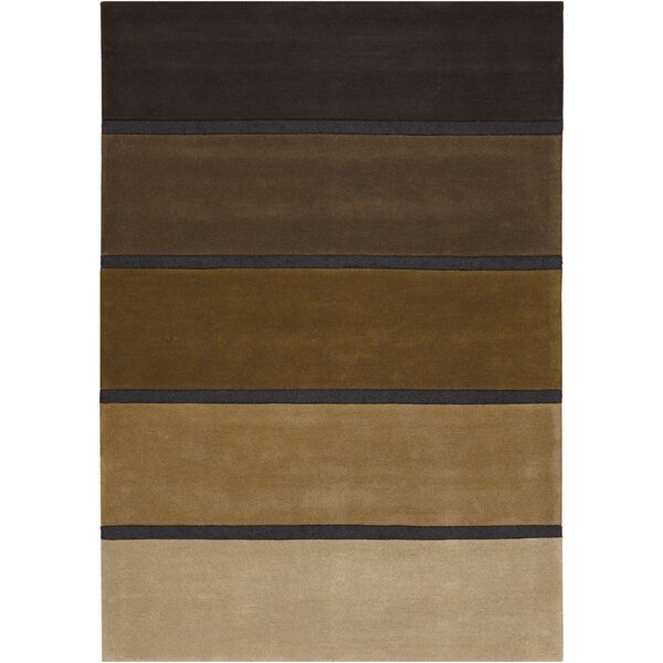 Super Indo-Colors Hand-Woven Wool Black/Brown Area Rug by Couristan