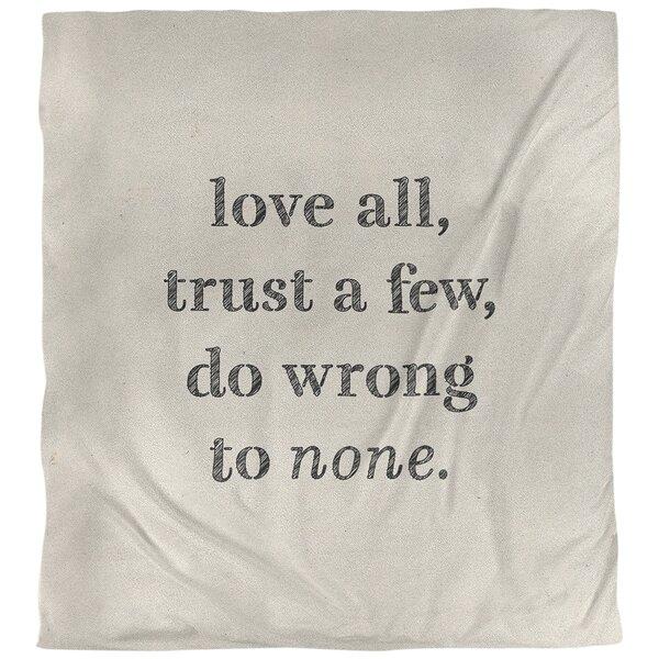 Quotes Handwritten Do No Wrong Single Reversible Duvet Cover