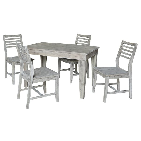 Gall 5 Piece Solid Wood Dining Set by Gracie Oaks