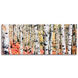 Aspen Grove Autumn Fall Aspen Trees Landscape by Modern Crowd Graphic Art by Metal Art Studio