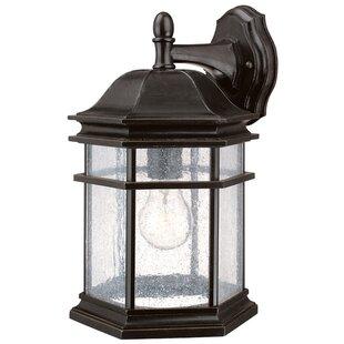 Best Price Derosier Traditional 1-Light Outdoor Wall Lantern By Three Posts