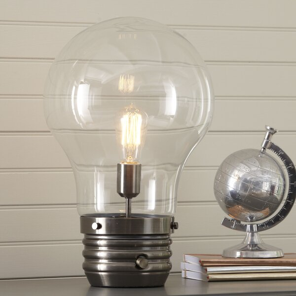 Edison 18 Table Lamp with Globe Shade by Birch Lan