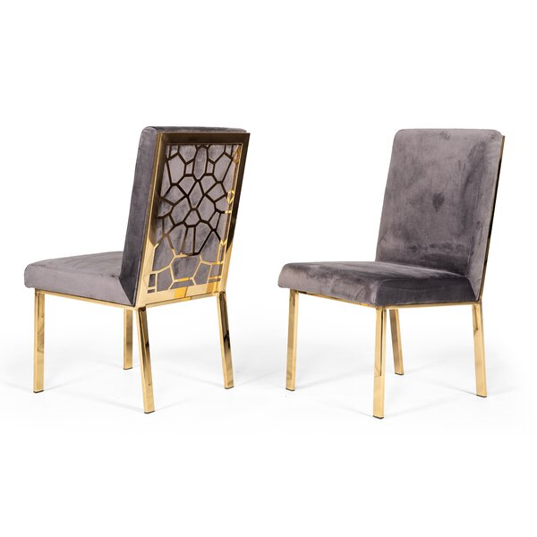 Middlet Upholstered Dining Chair (Set of 2) by Everly Quinn Everly Quinn