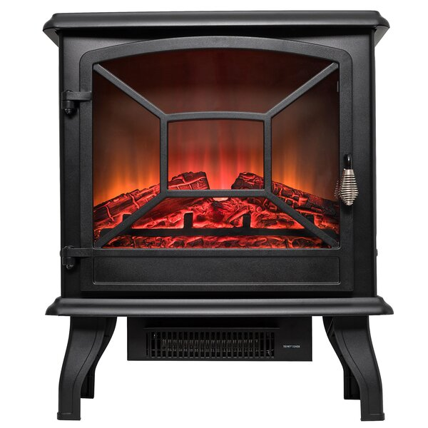 Vintage Freestanding Electric Fireplace by AKDY