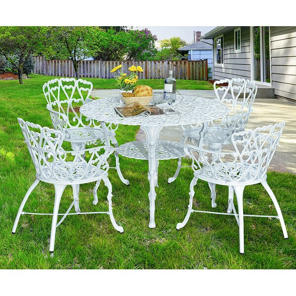 Scaggs 5 Piece Dining Set by Bungalow Rose