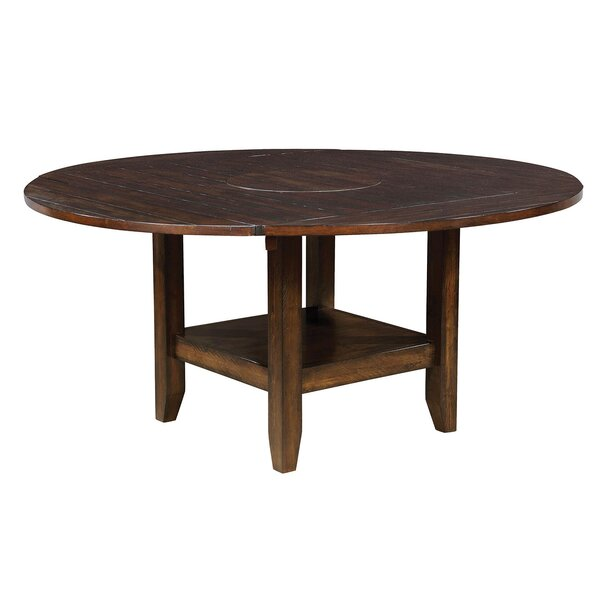 Berg Drop Leaf Solid Wood Dining Table by Millwood Pines