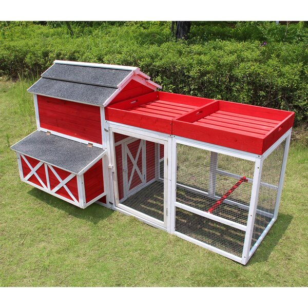 Comet Barn Chicken Coop with Roof Top Planter by T
