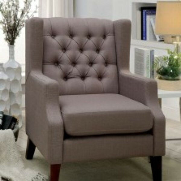 Carswell Wingback Chair by Charlton Home