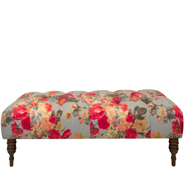 Morelle Garden Tufted Upholstered Bench by One Allium Way