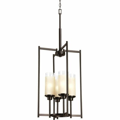 Nash 4 - Light Shaded Rectangle Chandelier By Ebern Designs