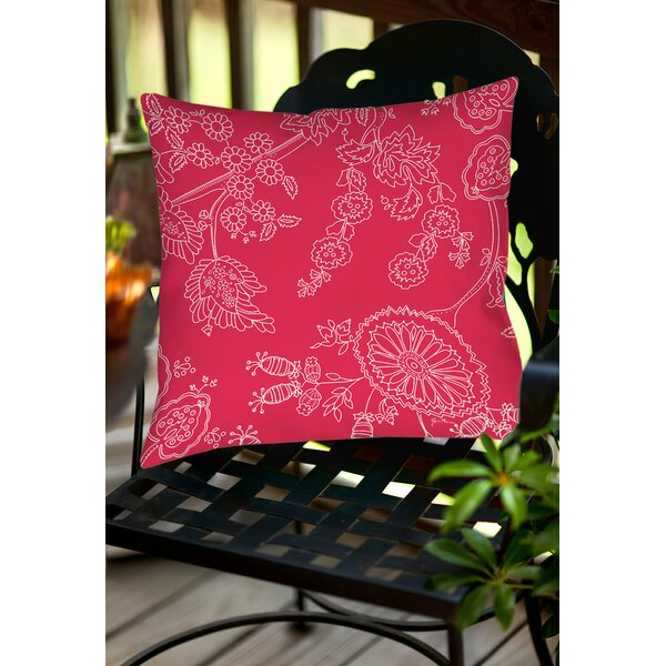 Anima Outline Indoor/Outdoor Throw Pillow by Manual Woodworkers & Weavers