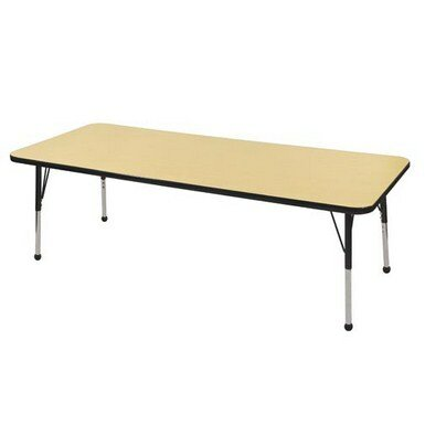 T-Mold Adjustable 36 x 64 Rectangular Activity Table by ECR4kids