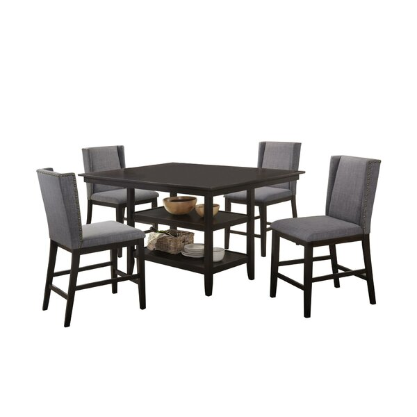 Wallach 5 Piece Pub Table Set By Gracie Oaks Savings