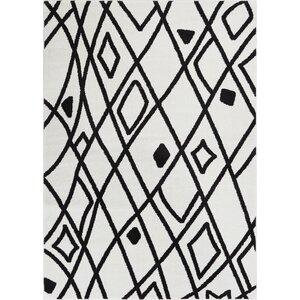 Honaye Modern Artisan Black/White Area Rug