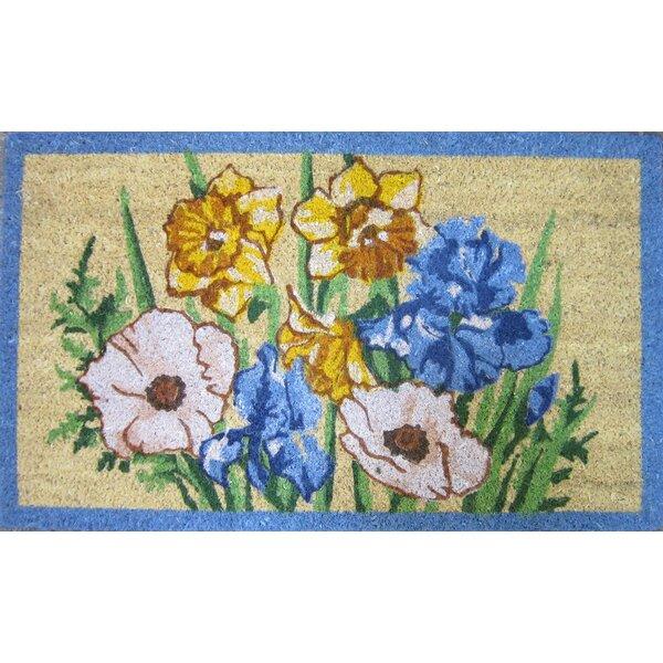Iris and Daffodil 30 in. x 18 in. Non-Slip Outdoor Door Mat