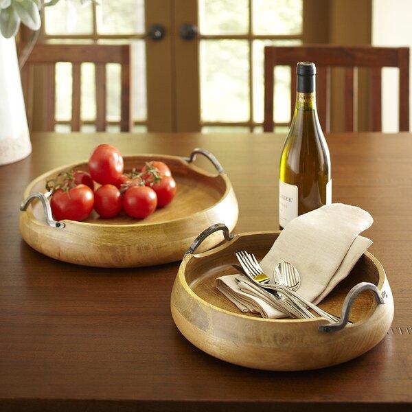 Round Wood Trays (Set of 2) by Birch Lane™