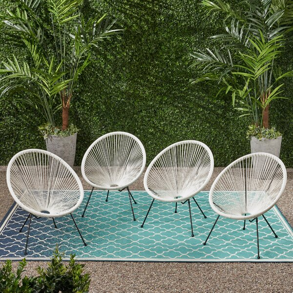 Mcclay Outdoor Hammock Weave Patio Chair (Set Of 4) By Bungalow Rose