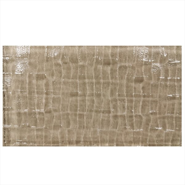Grid Textured 6 x 3 Glass Field Tile in Brown by Epoch Architectural Surfaces