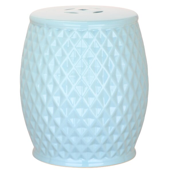 Fonzworth Harlequin Ceramic Garden Stool by Viv + Rae Viv + Rae
