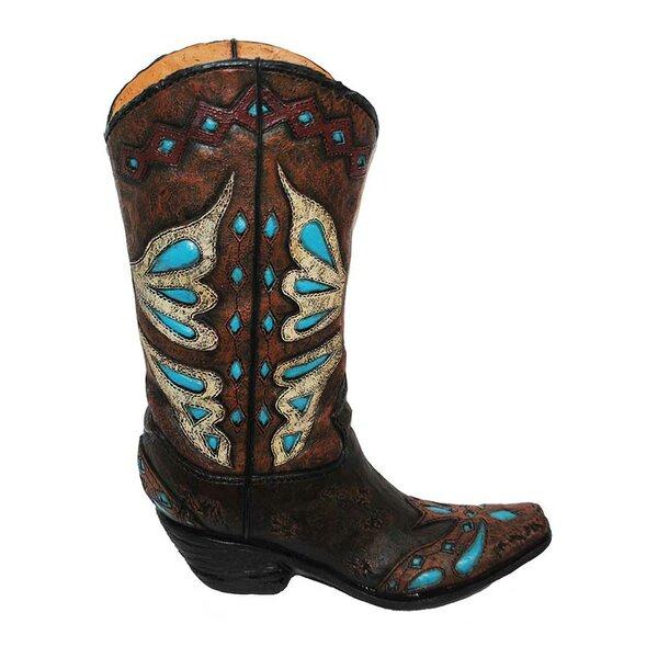 Scotts Valley Cowboy Boot Vase (Set of 2) by Loon Peak