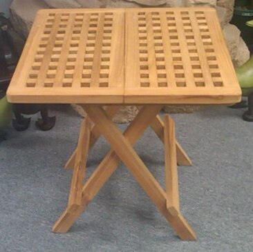 Folding Teak Bistro Table by D-Art Collection