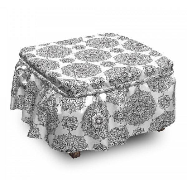 Eastern Petals And Leaves Ottoman Slipcover (Set Of 2) By East Urban Home