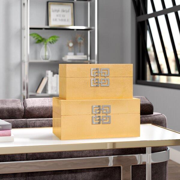 Leach 2 Piece Decorative Box Set by Willa Arlo Interiors