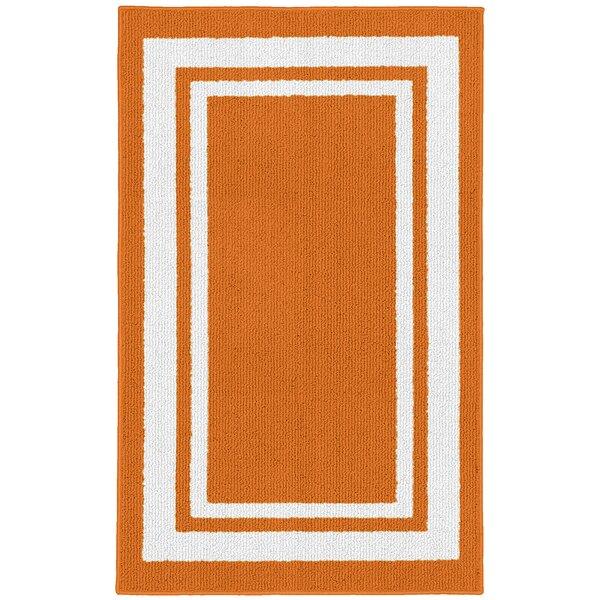 Ackerson Orange/White Indoor/Outdoor Area Rug by Sol 72 Outdoor Sol 72 Outdoor