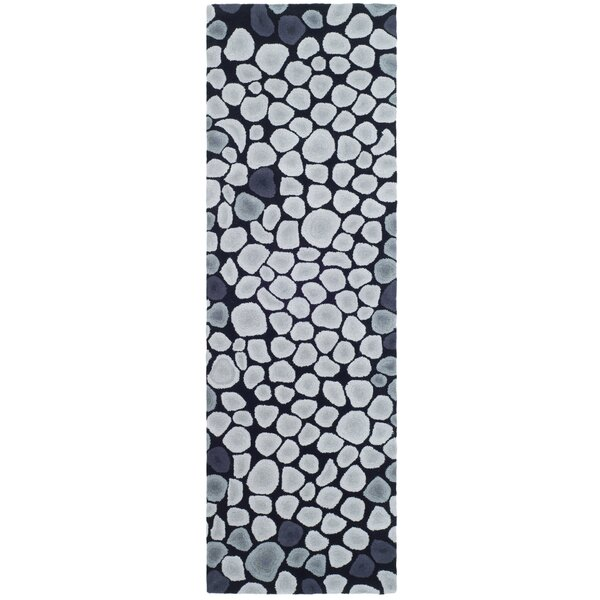 Lockwood Grey & Ivory Area Rug by Ebern Designs