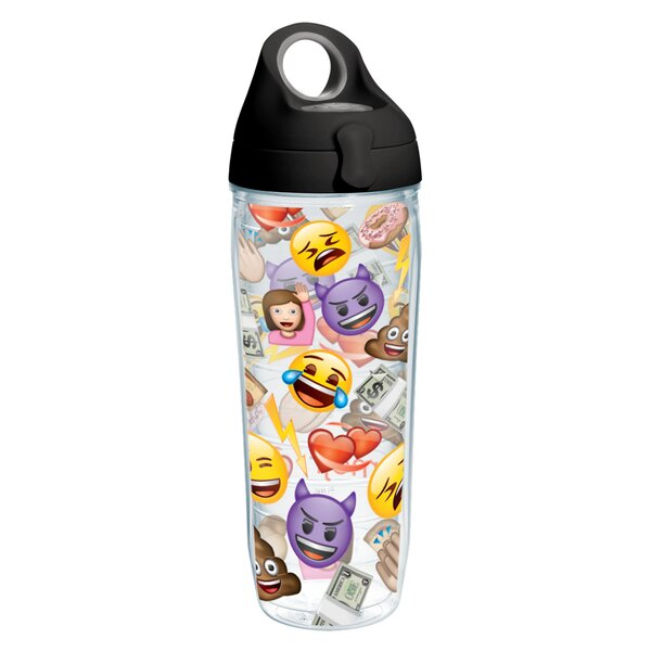 Emoji™ All Over Collage Water Bottle 24 oz. Plastic by Tervis Tumbler