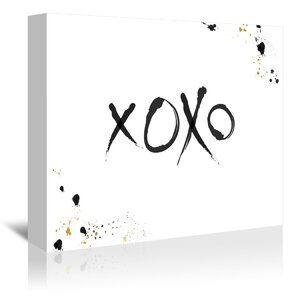 Xoxo by Khristian Howell Graphic Art Wrapped Canvas by Americanflat