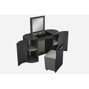 Angela Dressing Table Set With Mirror