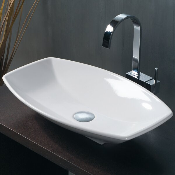 Ceramica Ceramic Oval Vessel Bathroom Sink by WS Bath Collections