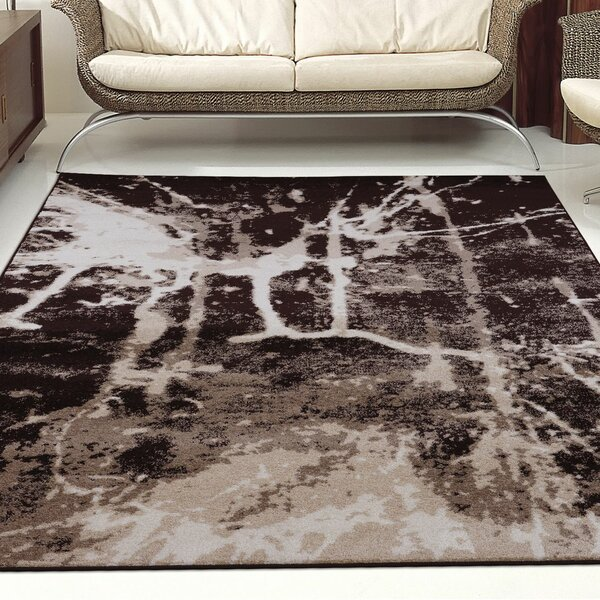 Anise Dark Brown/Cream Area Rug by La Dole Rugs
