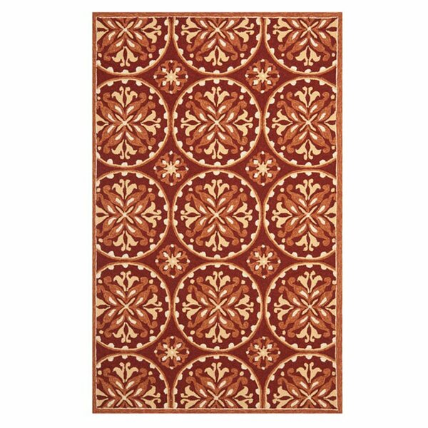 Carvalho Red/Orange Outdoor Area Rug by Charlton Home