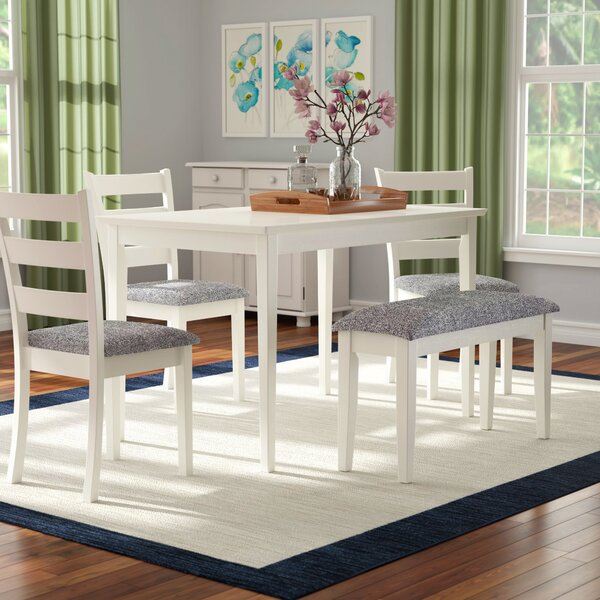 Emmie 5 Piece Dining Set by Winston Porter
