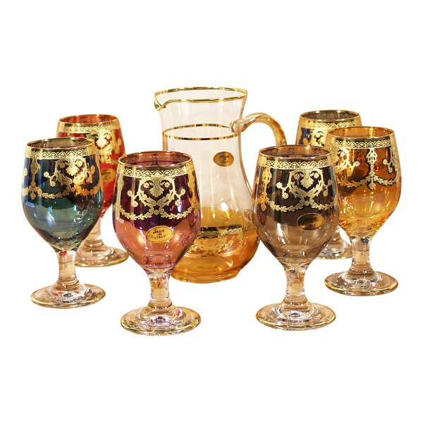 Veneziano 7-Piece Pitcher Set by Lorren Home Trends