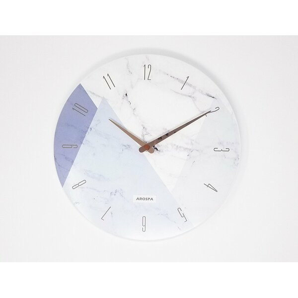 Debusk Art Inspired 12 Analog Wall Clock by Wrought Studio
