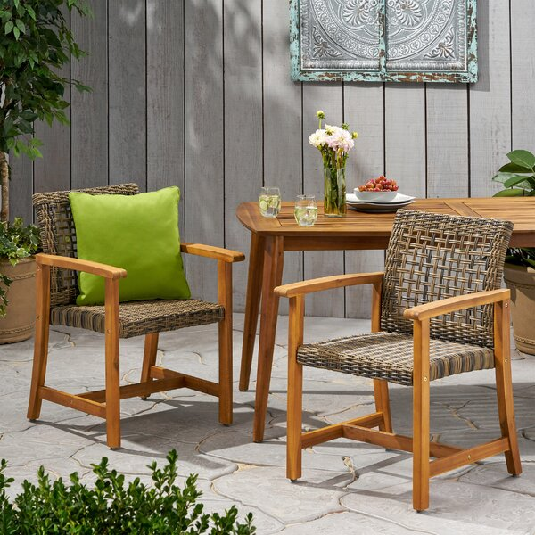 Foxborough Patio Dining Chair (Set of 2) by Bungalow Rose
