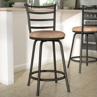 Charming Deandre Adjustable Height Swivel Bar Stool